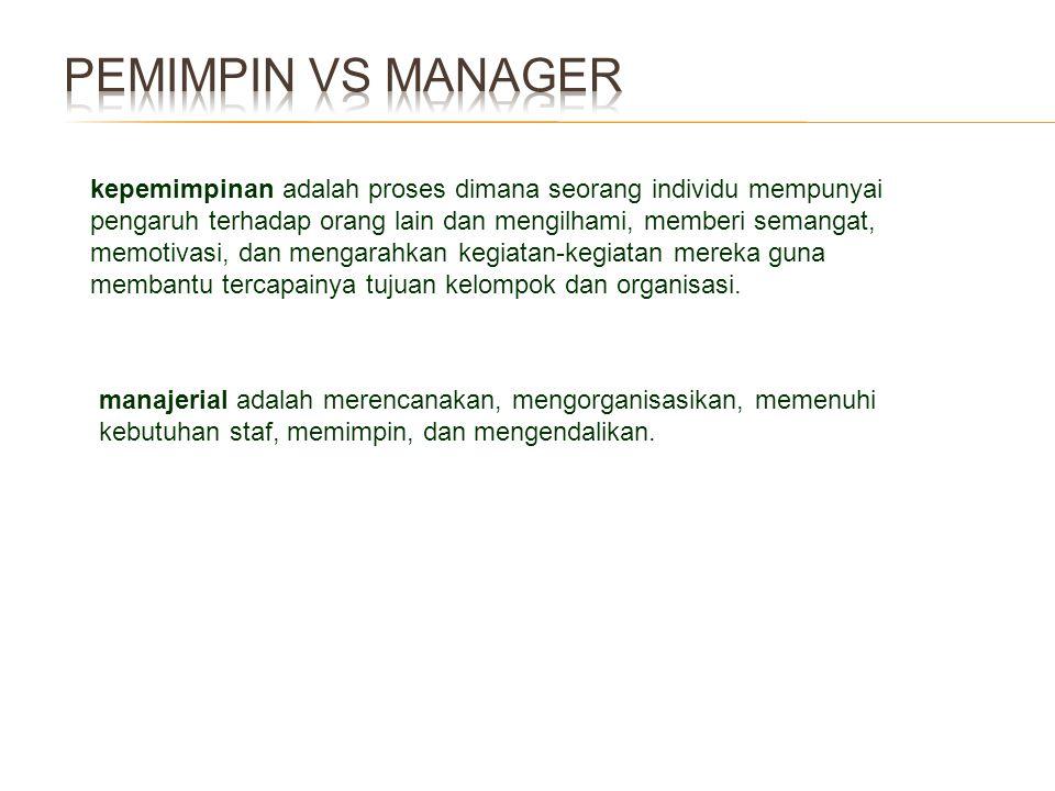 Pemimpin vs Manager