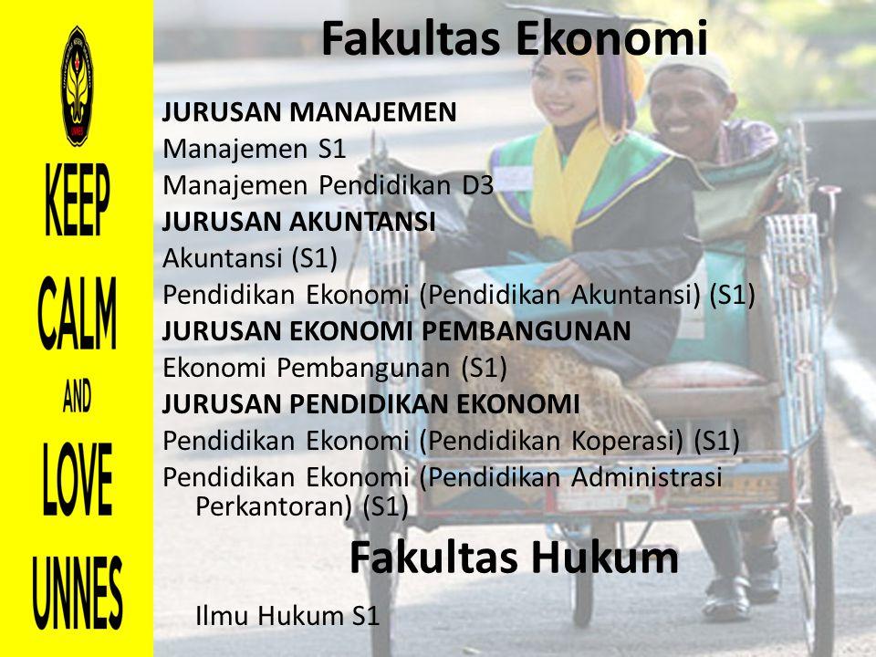 Fakultas Ekonomi Fakultas Hukum JURUSAN MANAJEMEN Manajemen S1