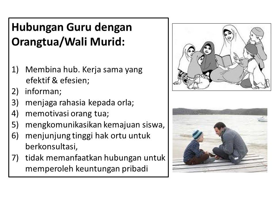 Hubungan Guru dengan Orangtua/Wali Murid:
