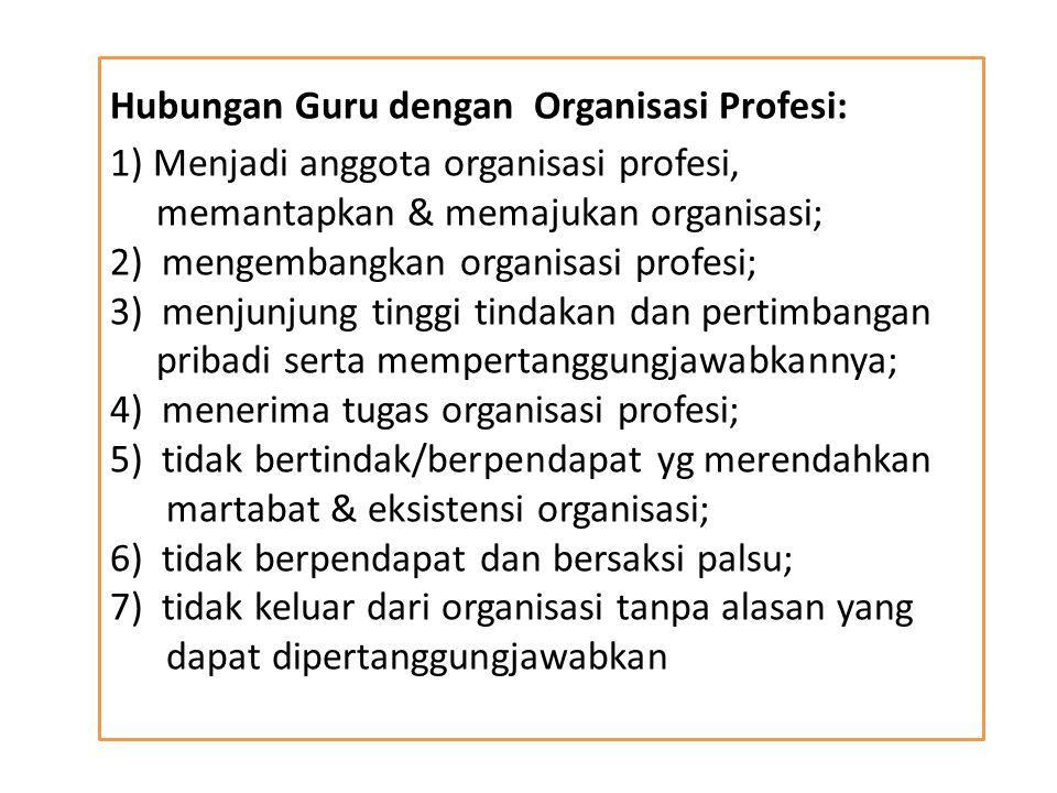 Hubungan Guru dengan Organisasi Profesi: