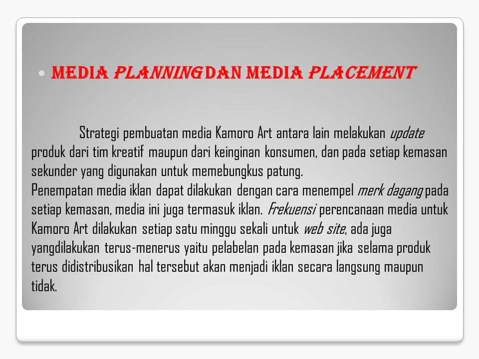 Media Planning dan Media Placement