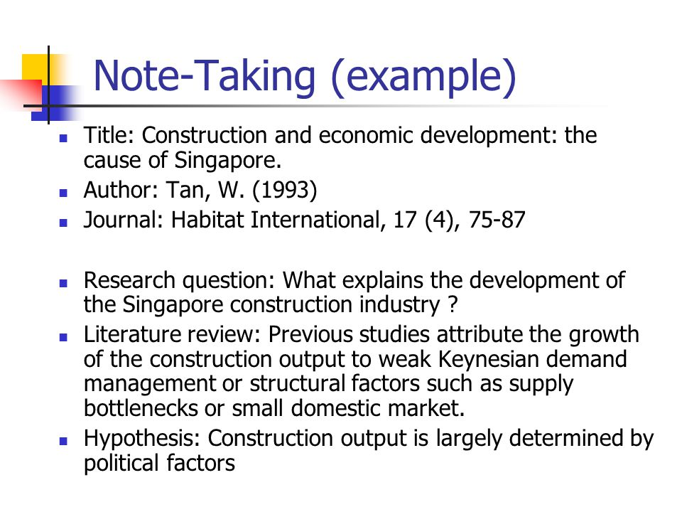 Note-Taking (example)