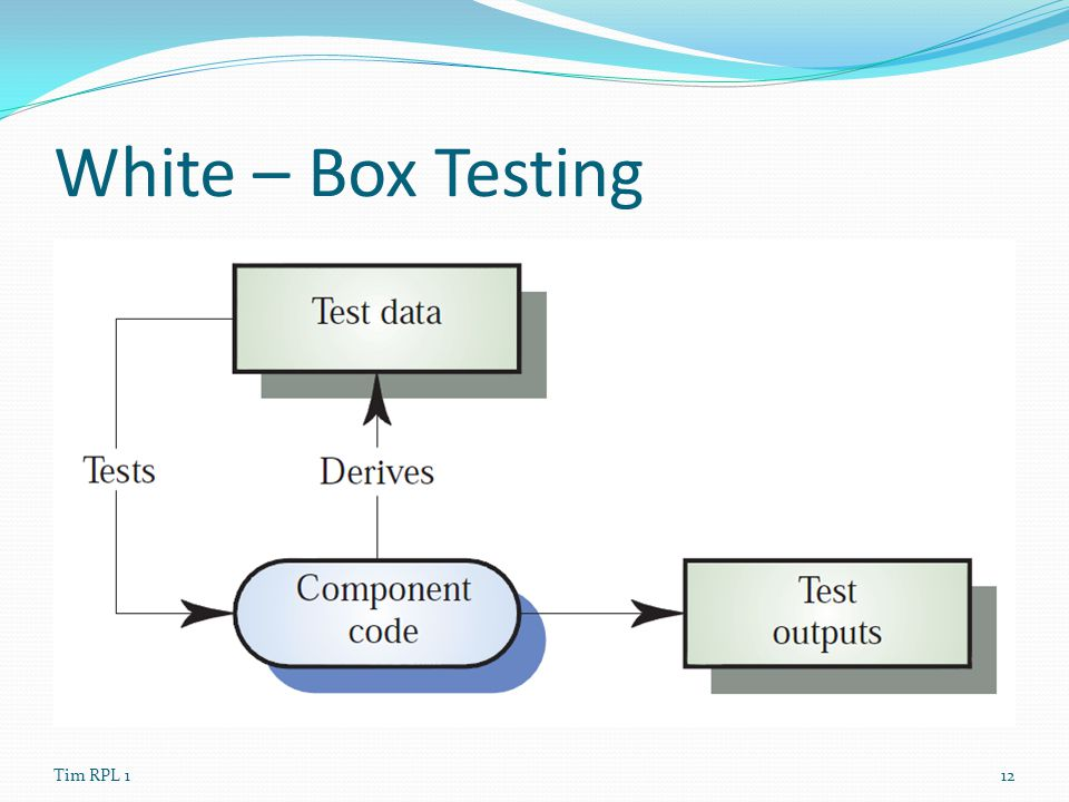 White – Box Testing Tim RPL 1