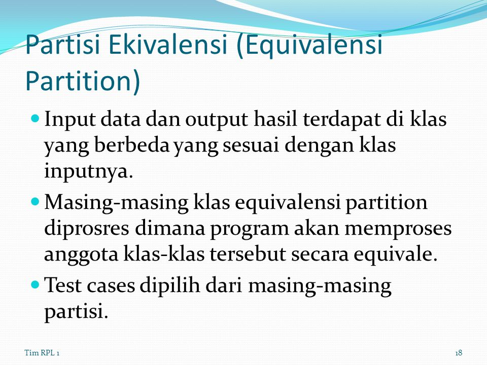 Partisi Ekivalensi (Equivalensi Partition)