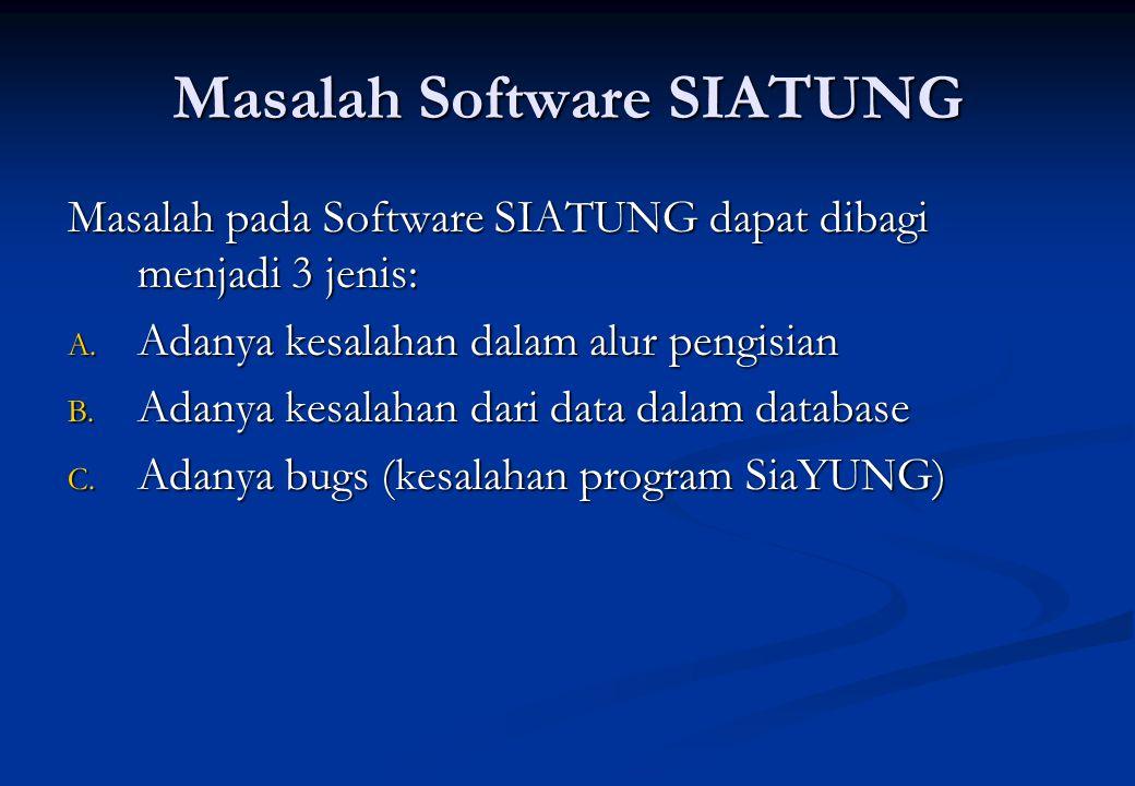 Masalah Software SIATUNG