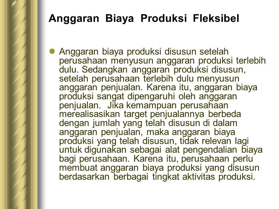 Anggaran Biaya Produksi Fleksibel