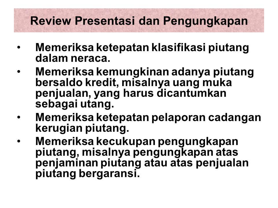 Review Presentasi dan Pengungkapan