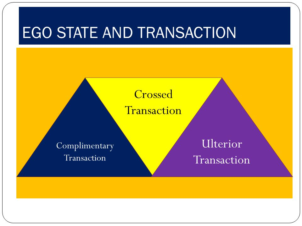 EGO STATE AND TRANSACTION