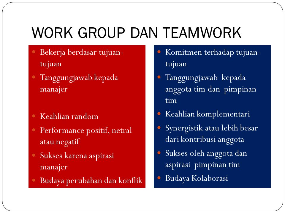 WORK GROUP DAN TEAMWORK
