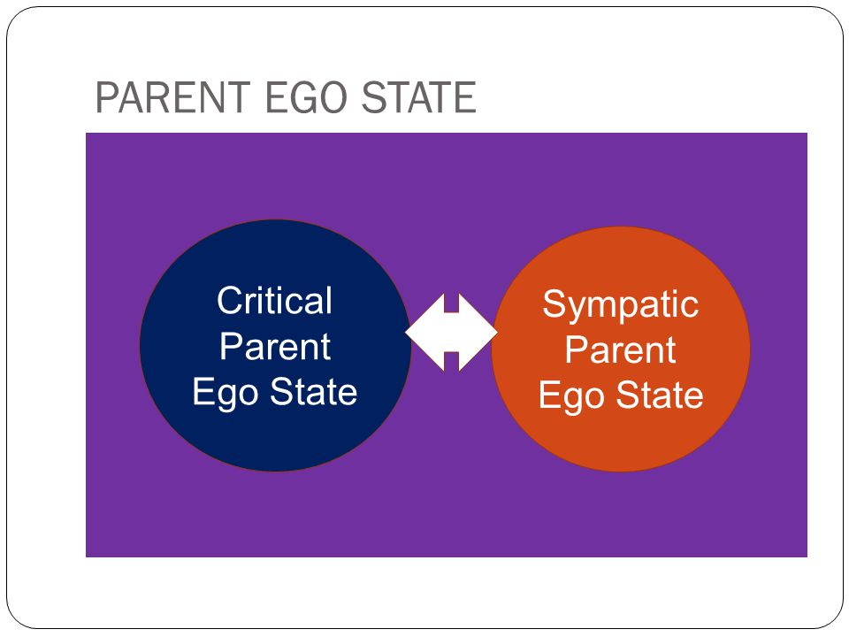 PARENT EGO STATE Critical Parent Ego State Sympatic Parent Ego State