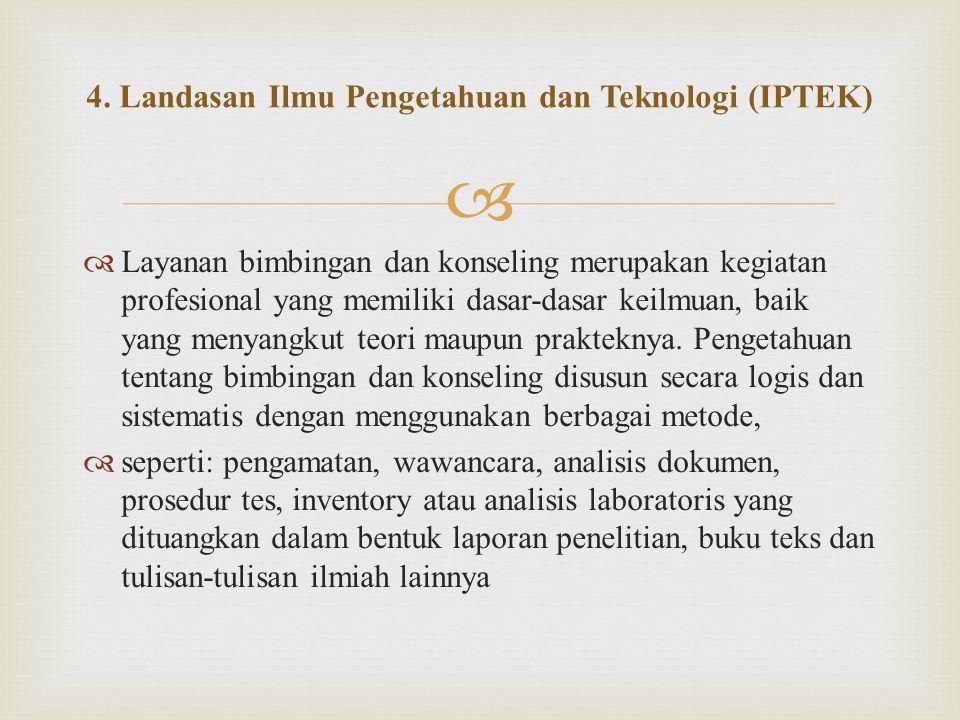4. Landasan Ilmu Pengetahuan dan Teknologi (IPTEK)
