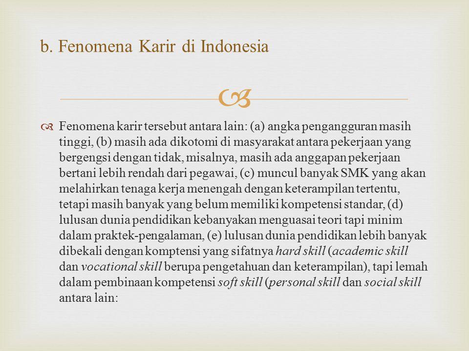 b. Fenomena Karir di Indonesia