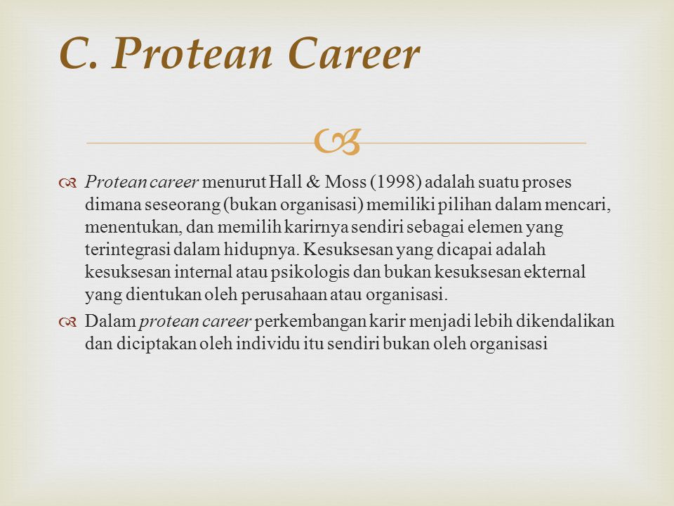 C. Protean Career