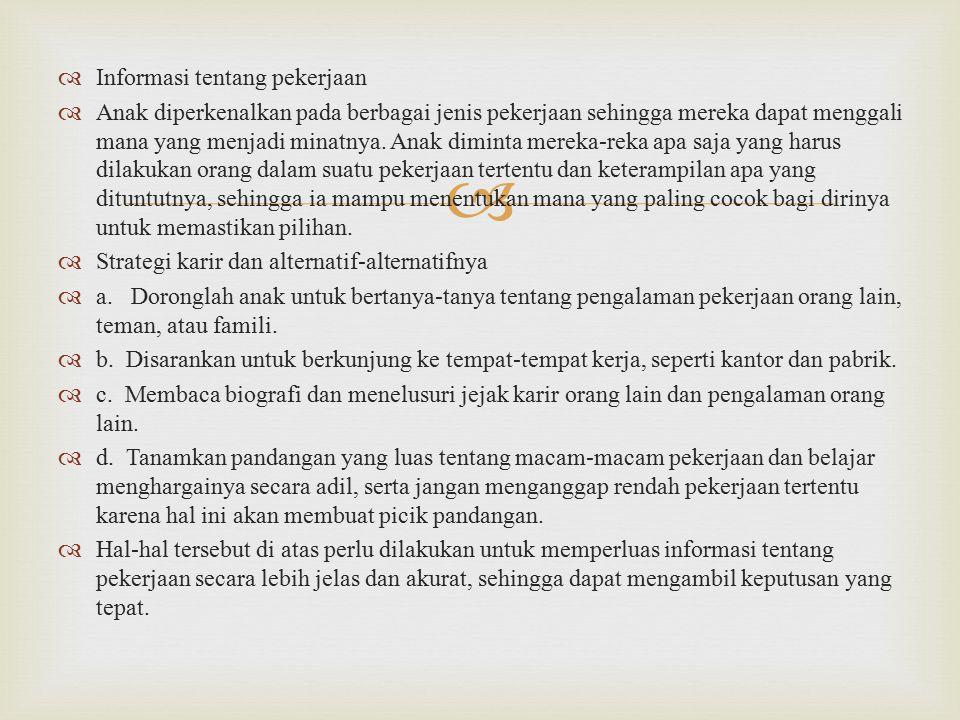 Informasi tentang pekerjaan