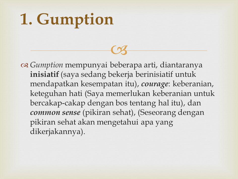 1. Gumption