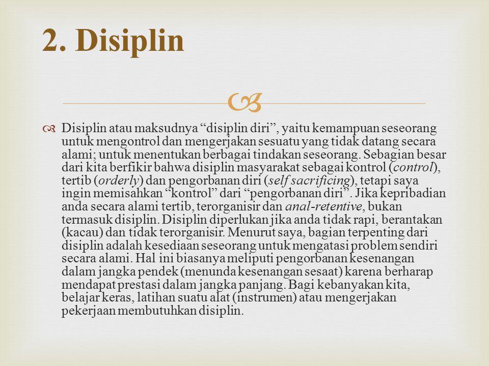 2. Disiplin
