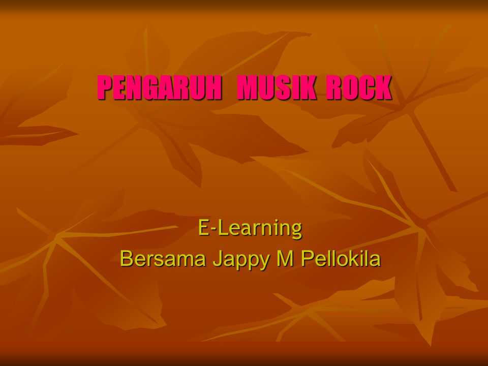 E-Learning Bersama Jappy M Pellokila
