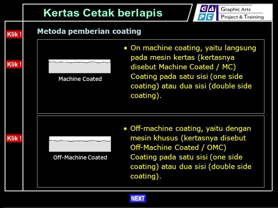 Kertas Cetak berlapis Metoda pemberian coating