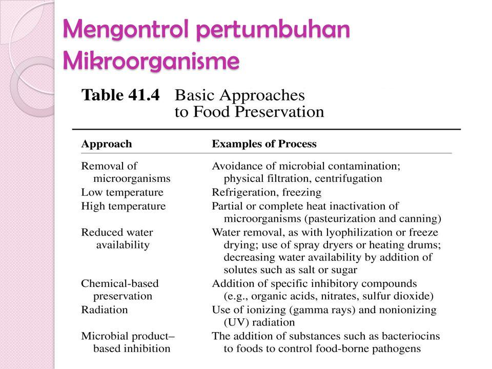 Mengontrol pertumbuhan Mikroorganisme