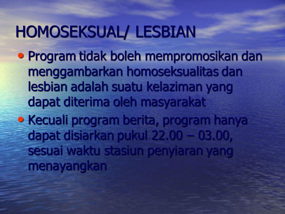 HOMOSEKSUAL/ LESBIAN
