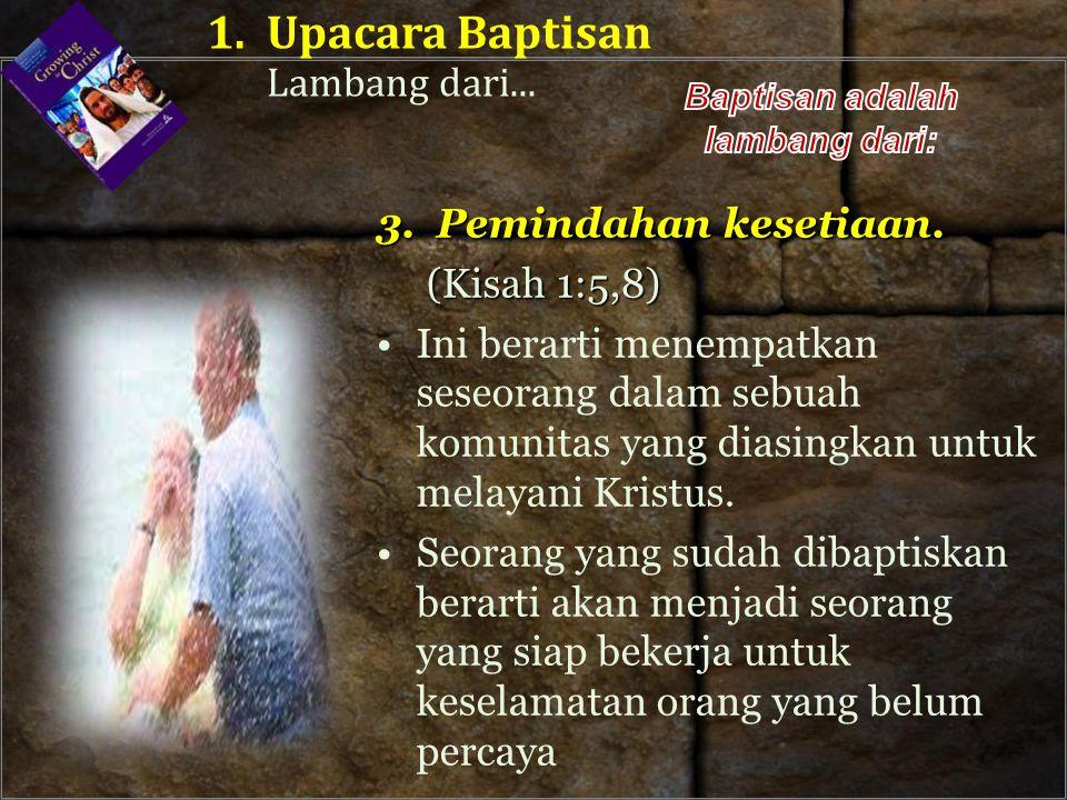 Baptisan adalah lambang dari: