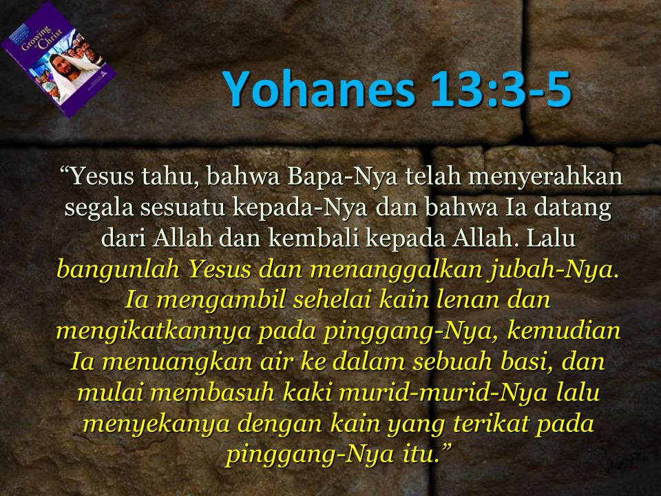 Yohanes 13:3-5