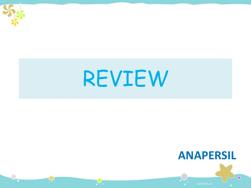 REVIEW ANAPERSIL