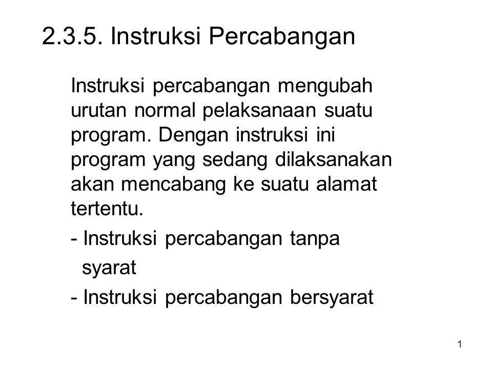 2.3.5. Instruksi Percabangan