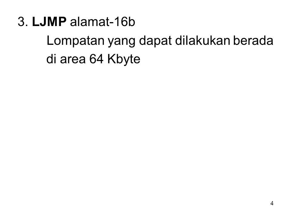 3. LJMP alamat-16b Lompatan yang dapat dilakukan berada di area 64 Kbyte