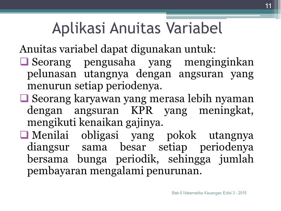 Aplikasi Anuitas Variabel