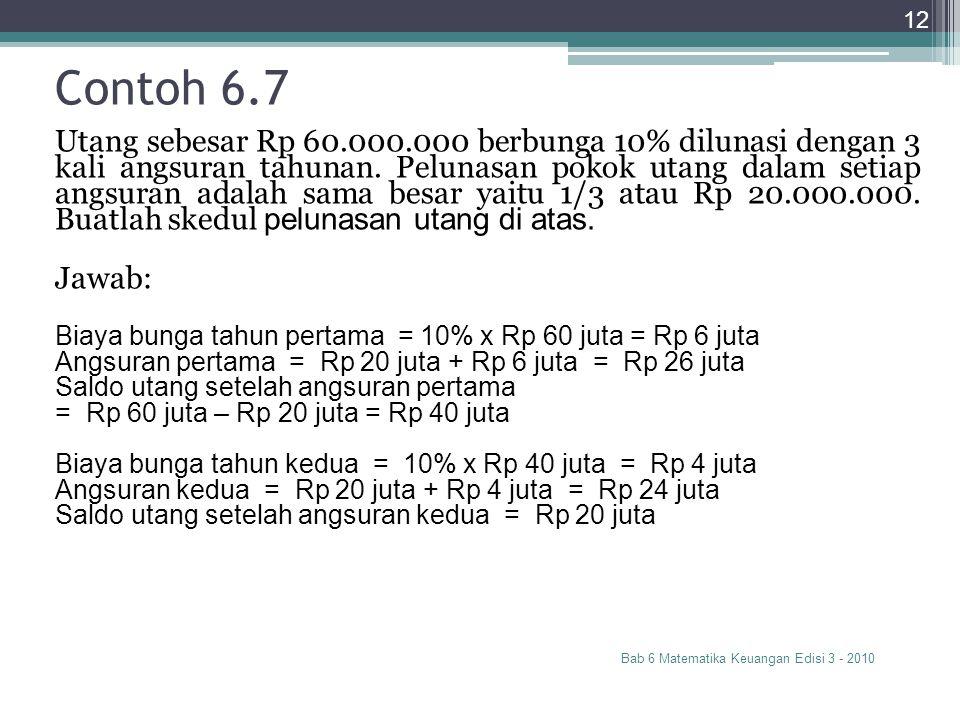 Contoh 6.7