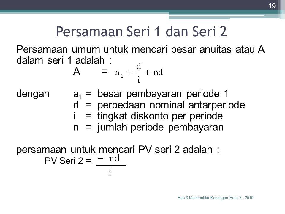 Persamaan Seri 1 dan Seri 2