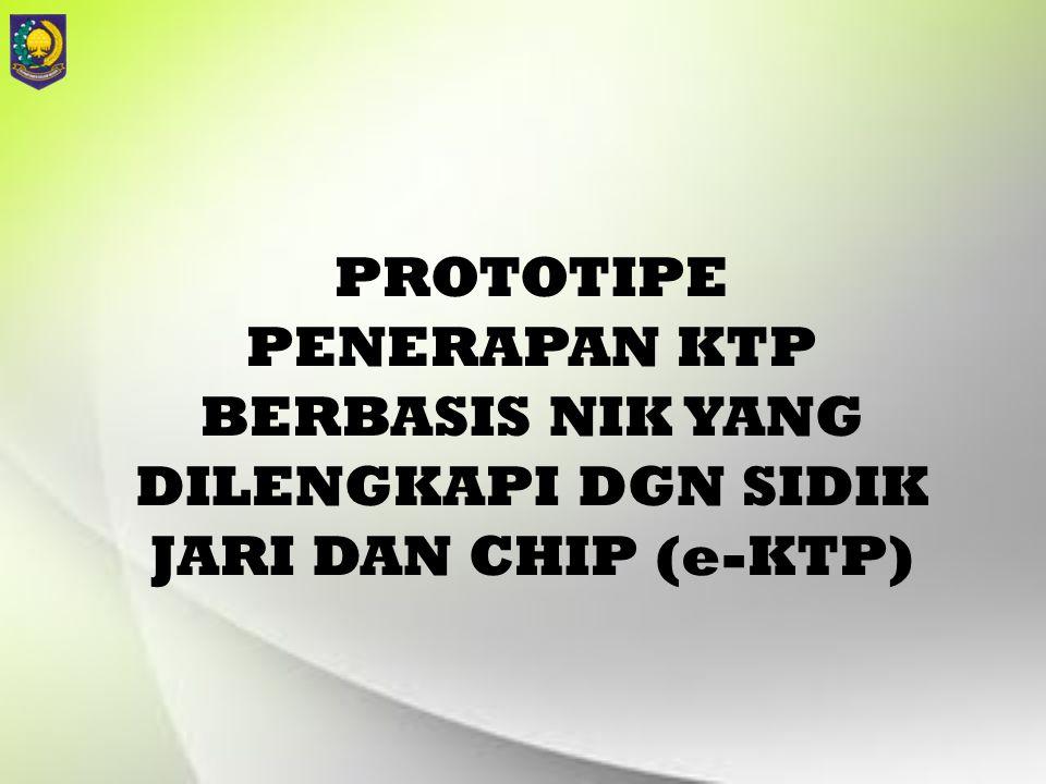 PROTOTIPE PENERAPAN KTP BERBASIS NIK YANG DILENGKAPI DGN SIDIK JARI DAN CHIP (e-KTP)