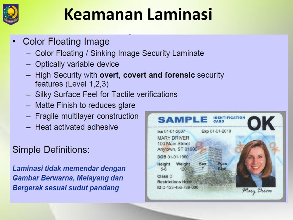 Keamanan Laminasi