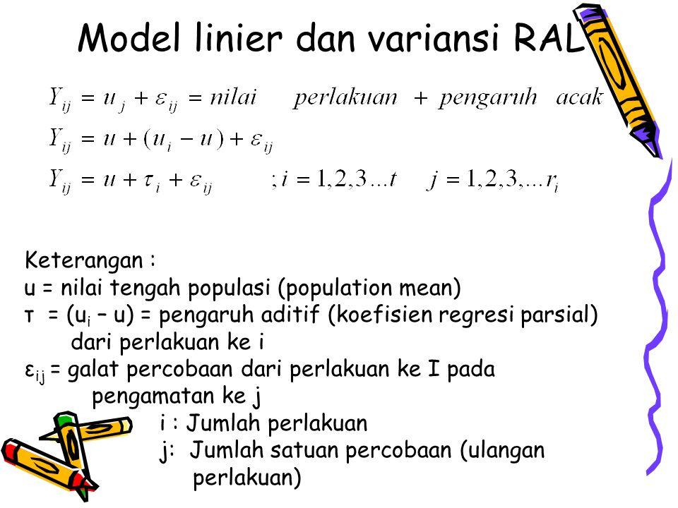 Model linier dan variansi RAL