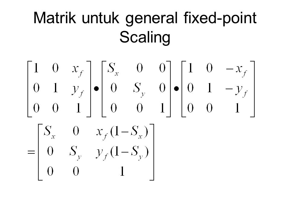 Matrik untuk general fixed-point Scaling