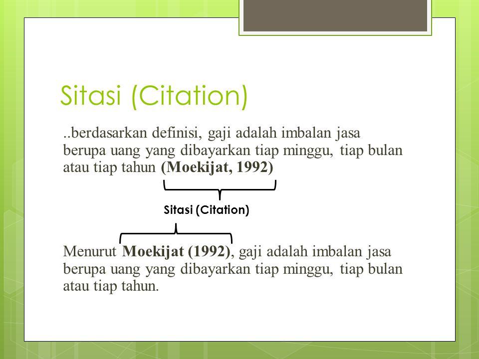 Sitasi (Citation)