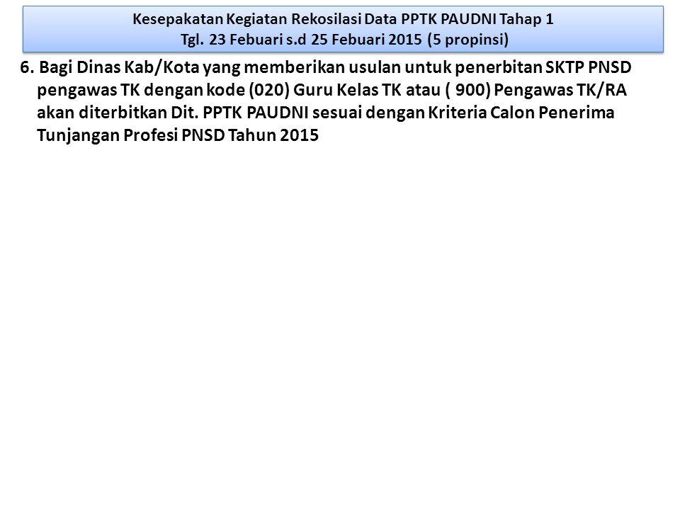 pengawas TK dengan kode (020) Guru Kelas TK atau ( 900) Pengawas TK/RA