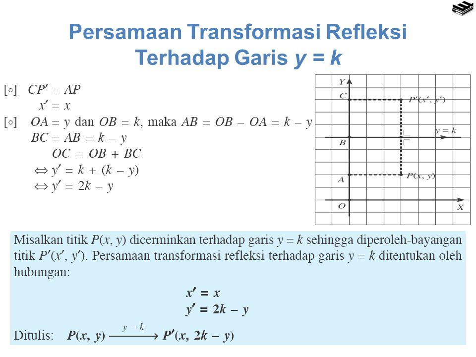 Persamaan Transformasi Refleksi Terhadap Garis y = k