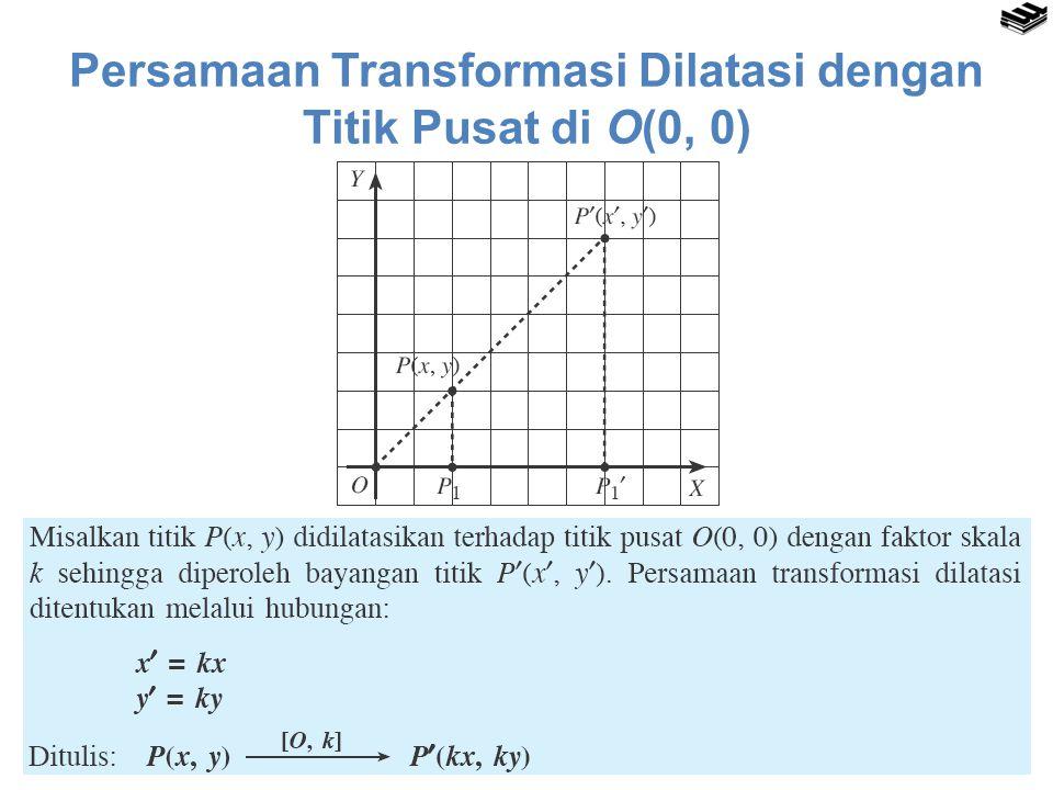 Persamaan Transformasi Dilatasi dengan Titik Pusat di O(0, 0)