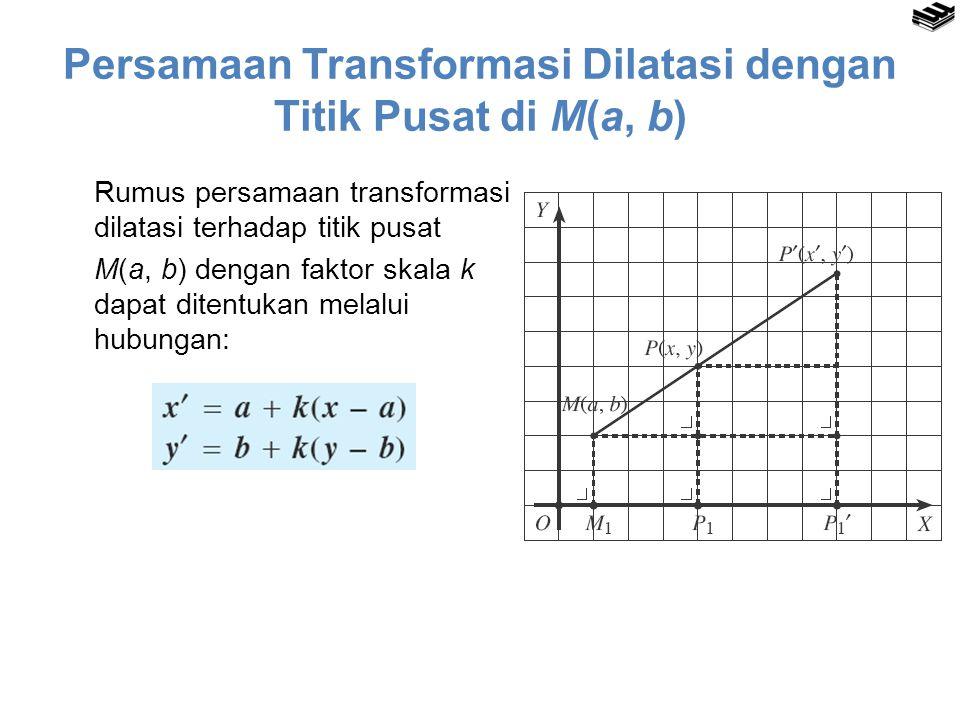 Persamaan Transformasi Dilatasi dengan Titik Pusat di M(a, b)
