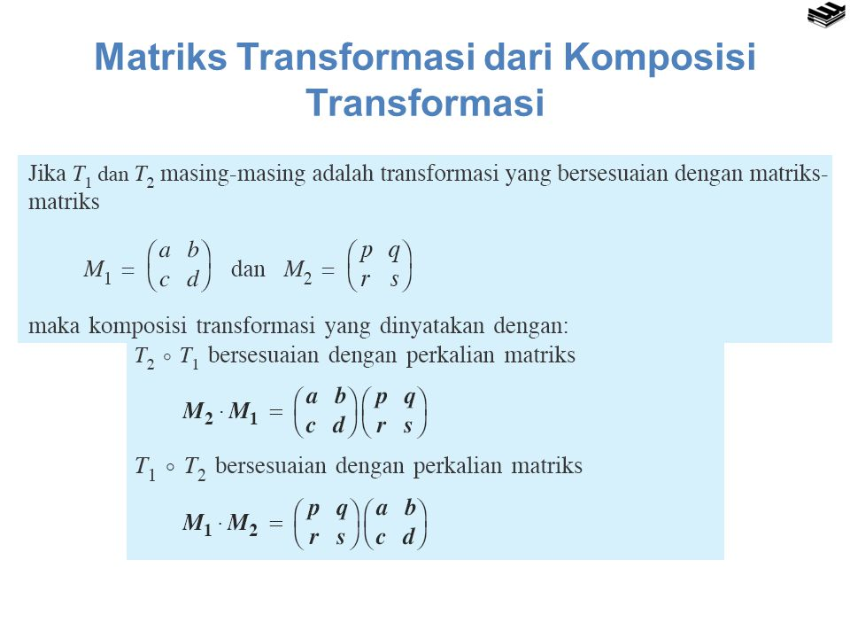 Matriks Transformasi dari Komposisi Transformasi