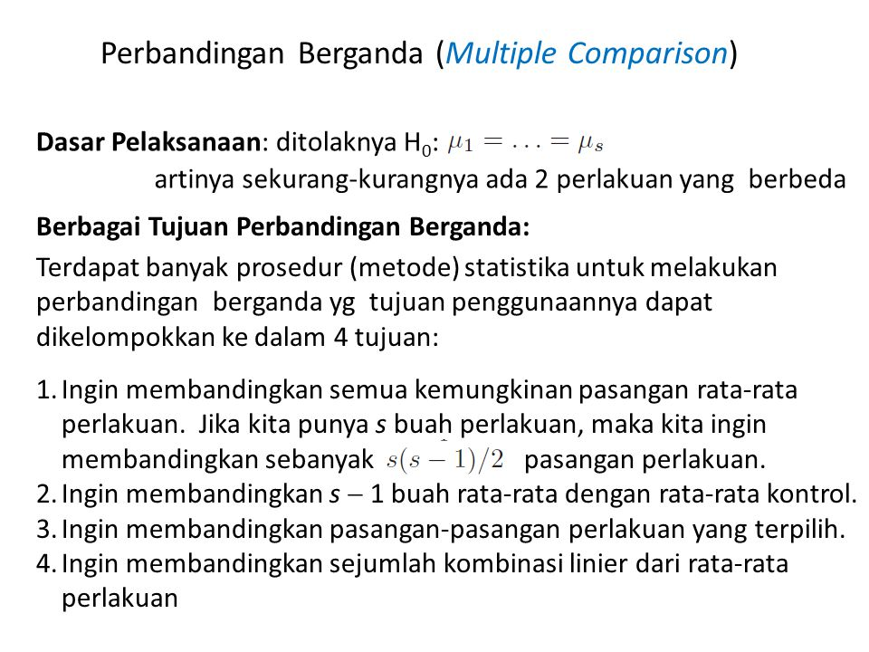 Perbandingan Berganda (Multiple Comparison)