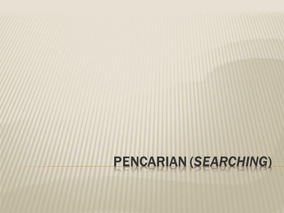 PENCARIAN (SEARCHING)
