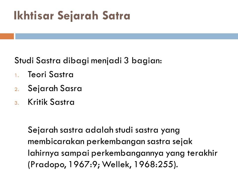 Ikhtisar Sejarah Satra