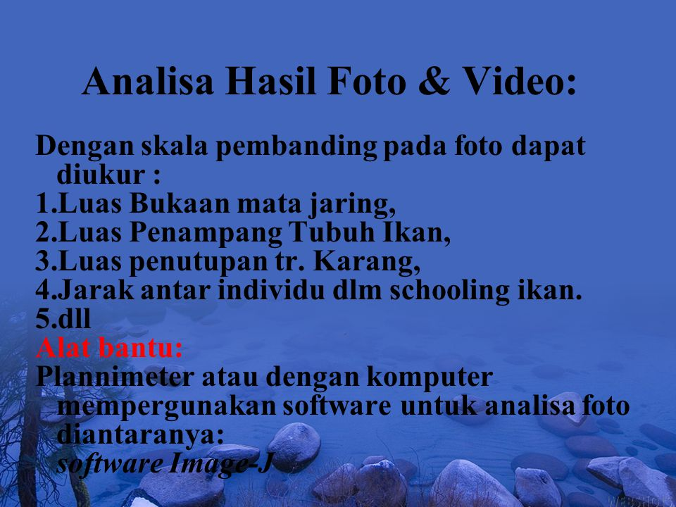 Analisa Hasil Foto & Video: