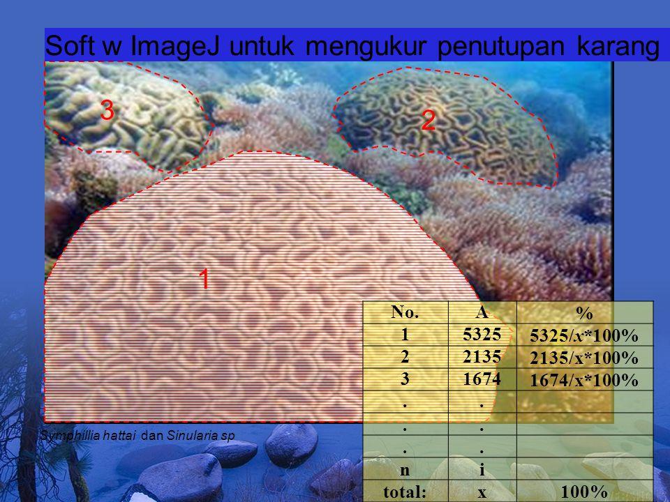 Soft w ImageJ untuk mengukur penutupan karang