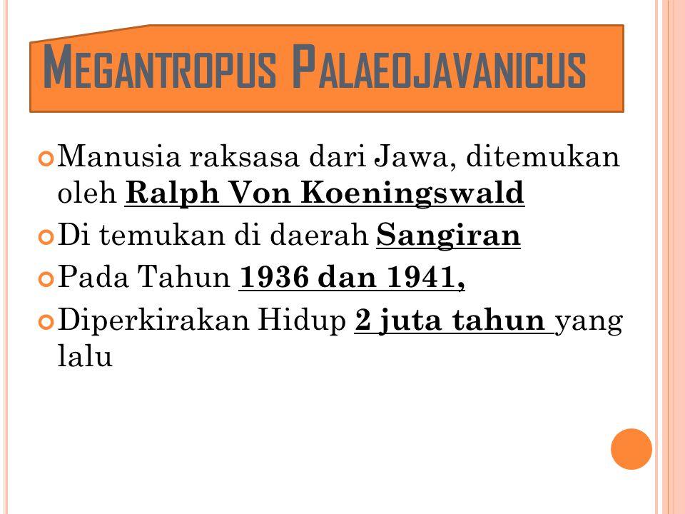 Megantropus Palaeojavanicus