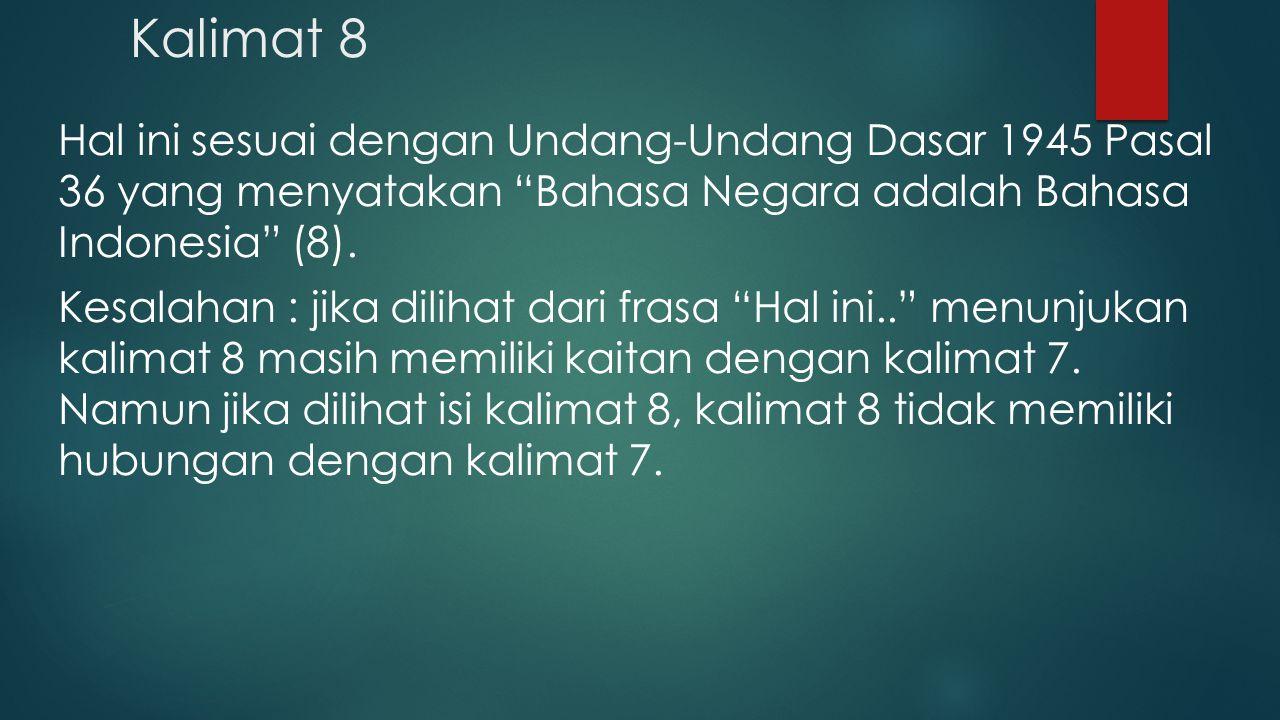 Kalimat 8