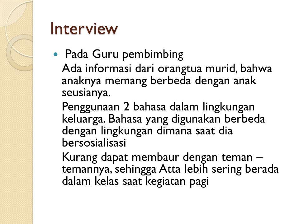 Interview Pada Guru pembimbing